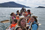 A group of students join us for a paddle near Inverie