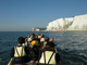 A very famous shot of the Cliffs of Dover in Spirit Dancer canoe.